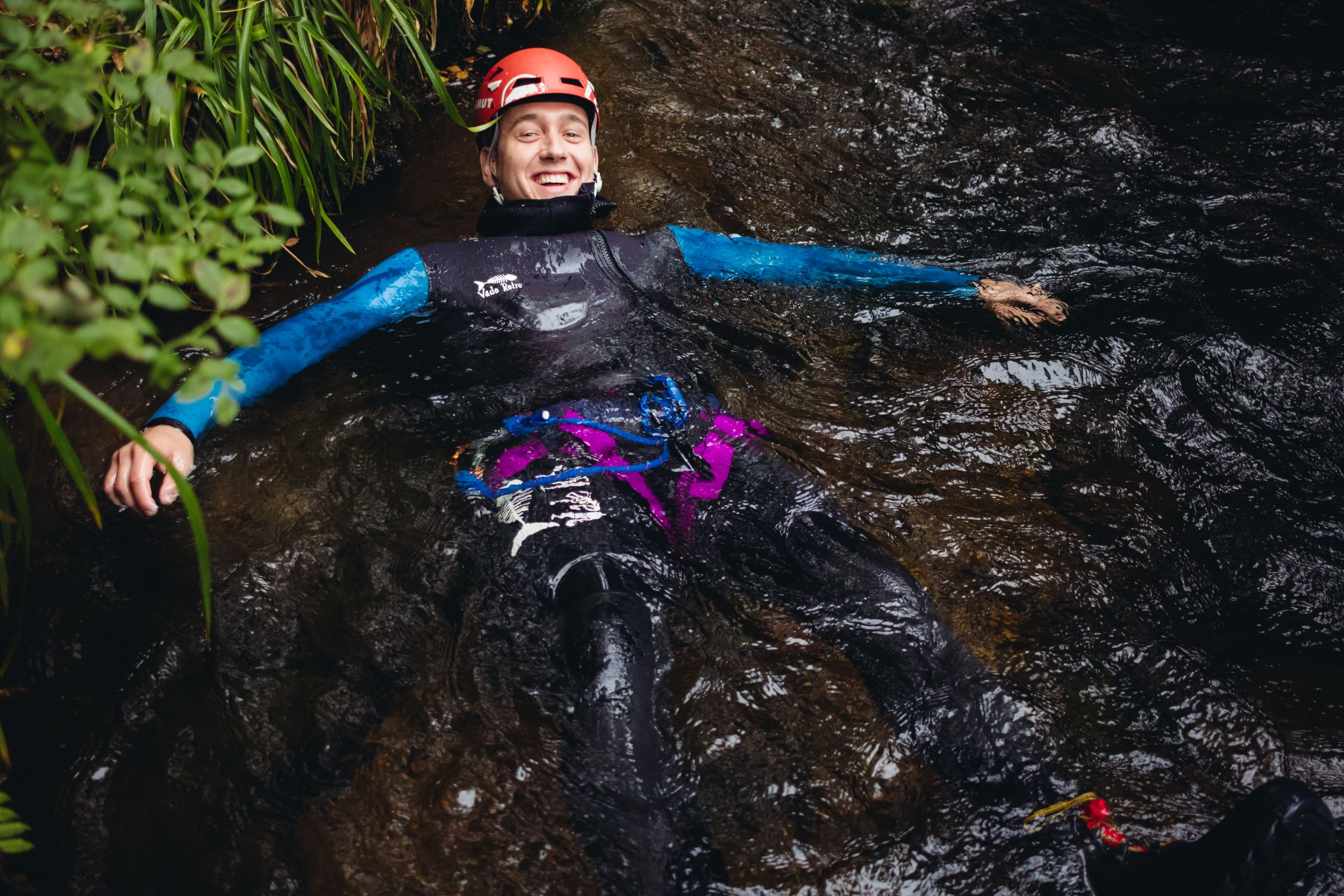 adventure photography canyoning scotland dollar glen