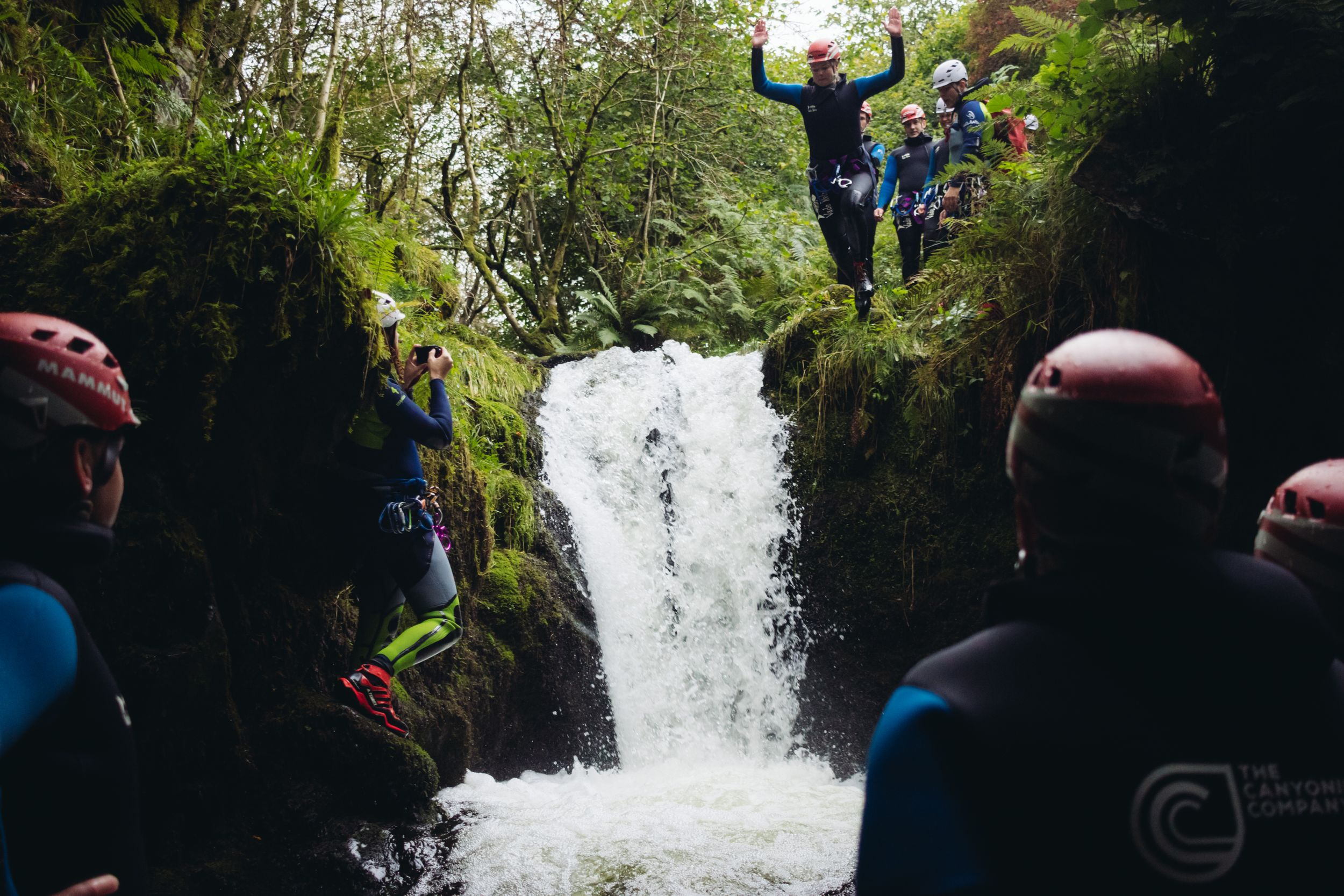 canyoning scotland dollar glen jump
