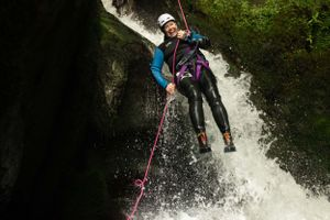 The Adventure Photographers The Canyoning Company Dollar abseil