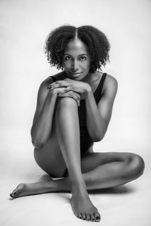 Implied nude african american woman