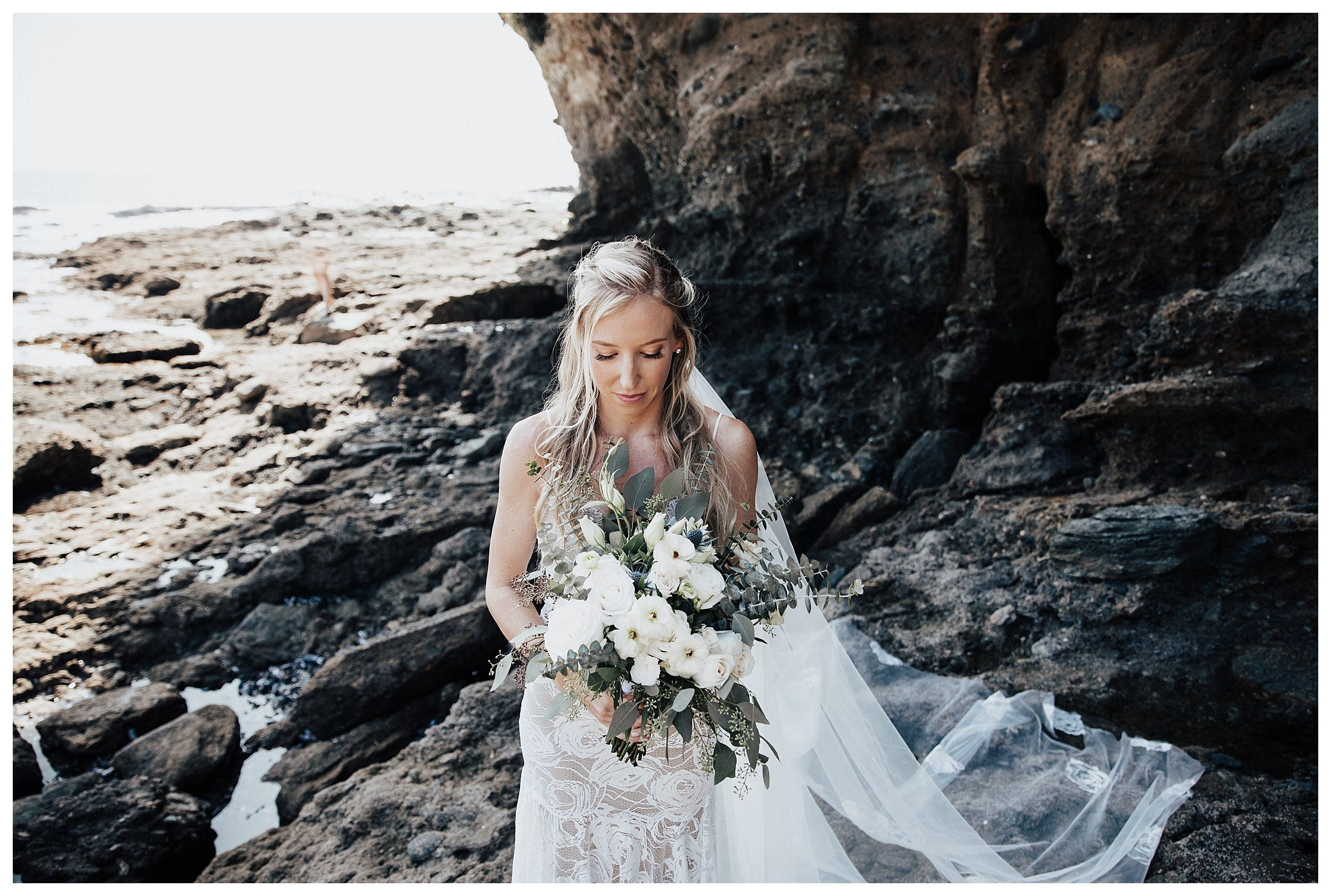 bride on beach, beach bridal photos, bridal beach photos
