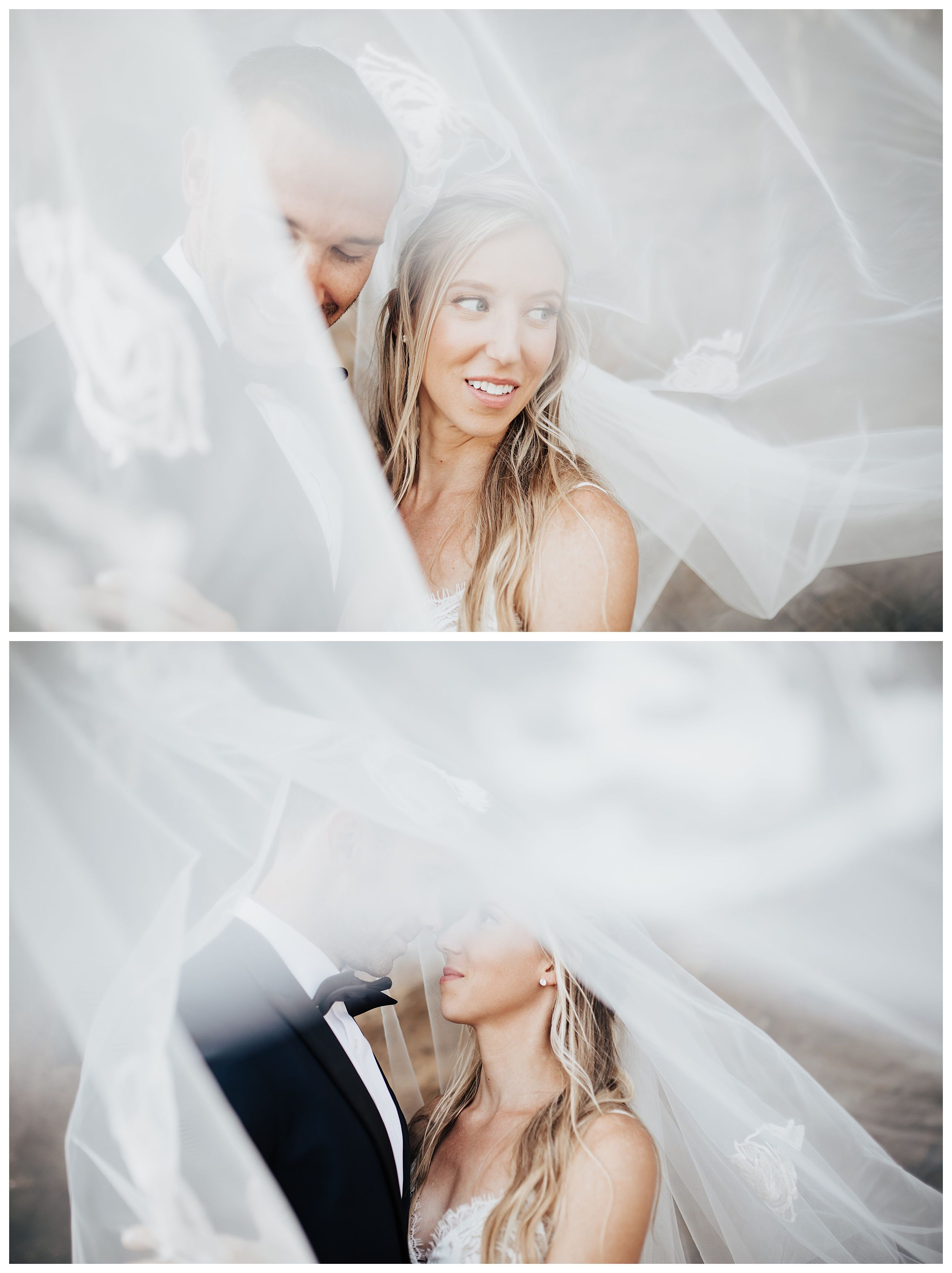 bride and groom under veil, wedding photo inspiration, veil wedding photo
