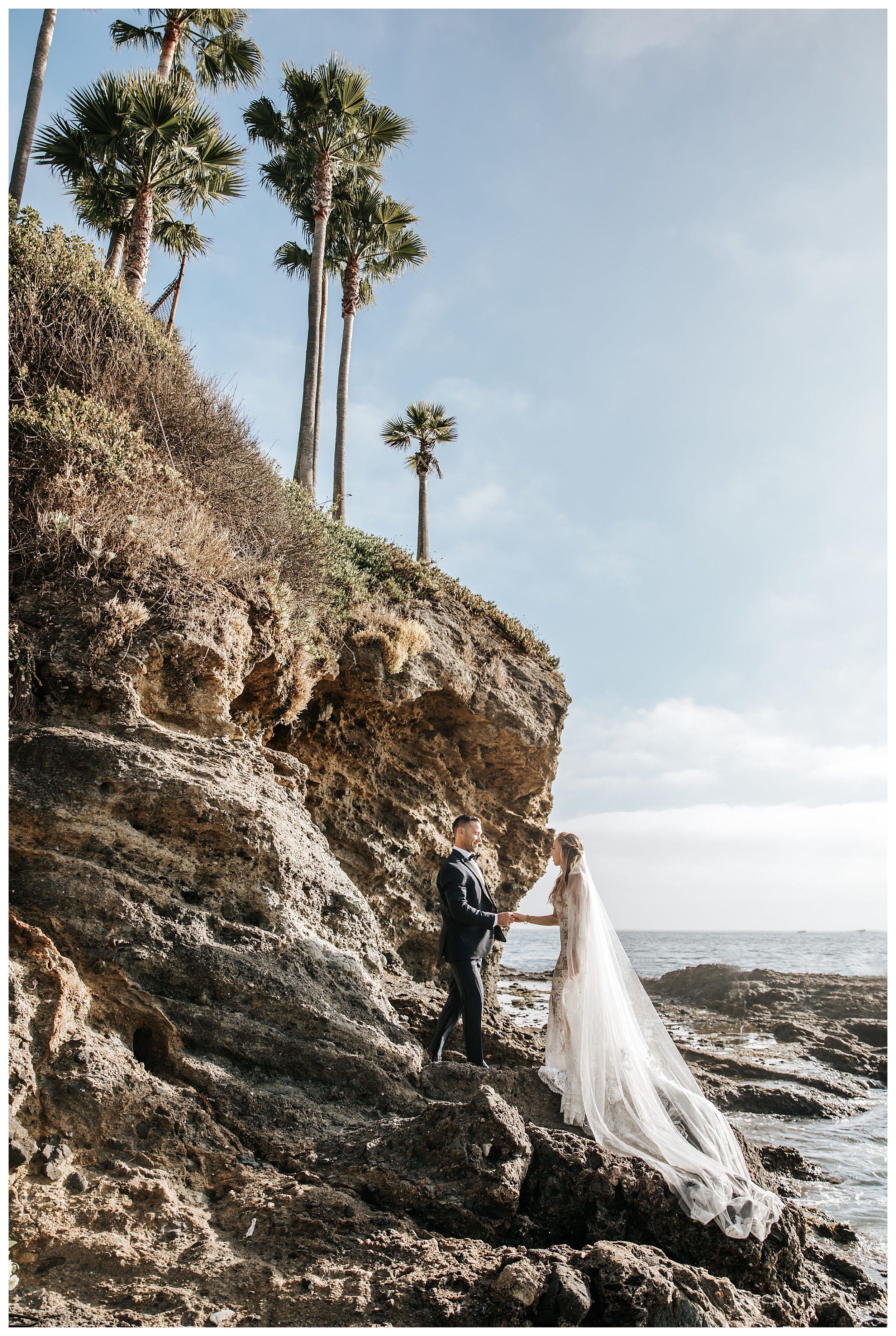 adventure elopement inspiration, destination elopement inspiration, bride and groom on beach