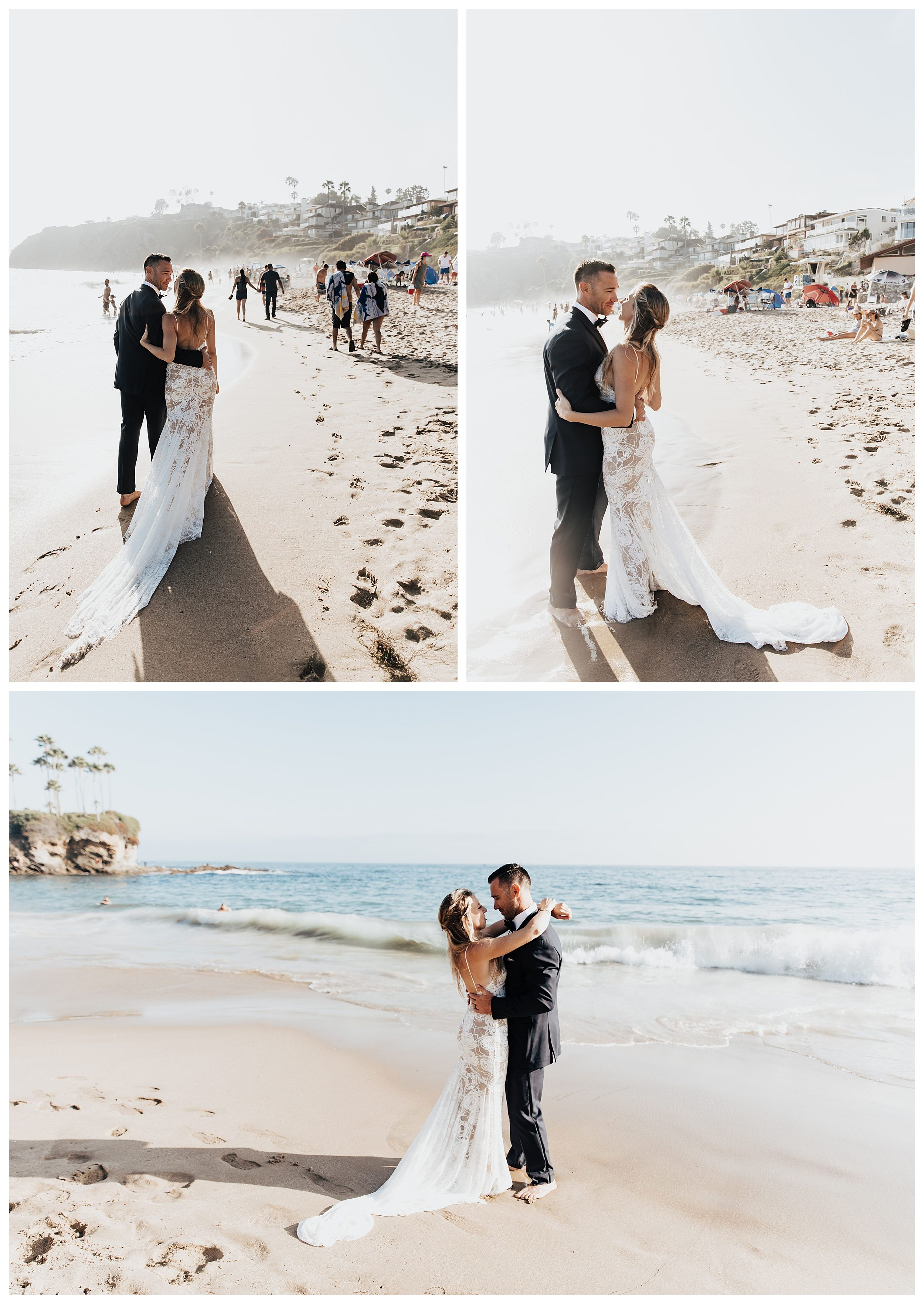 wedding photos on the beach, elopement photos on the beach