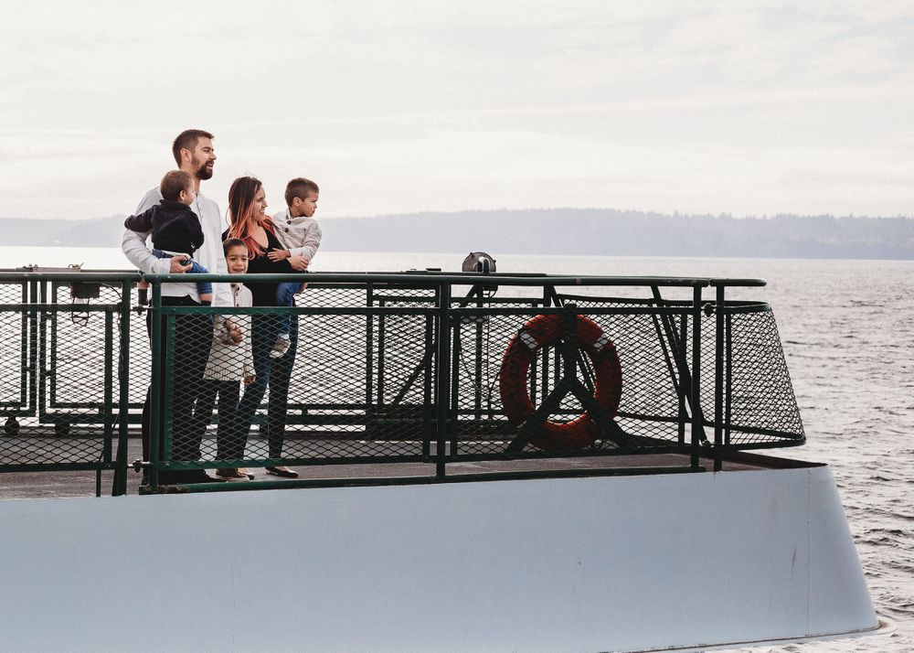 Family Photo Session Seattle Ferry Lifestyle