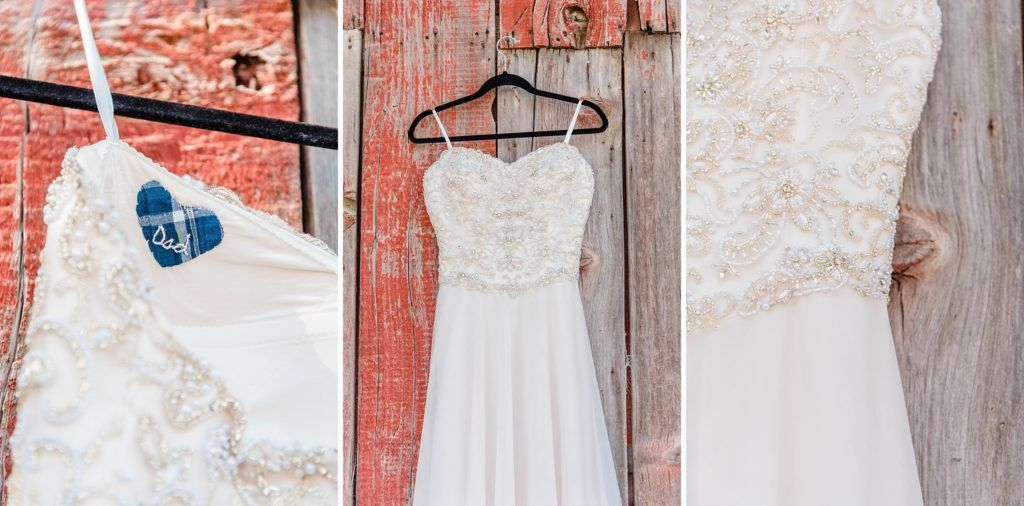 Central Valley visalia California barn wedding dress