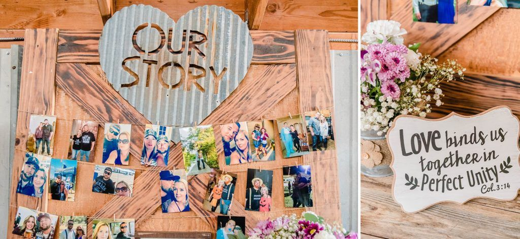 Central Valley visalia California barn wedding reception decor
