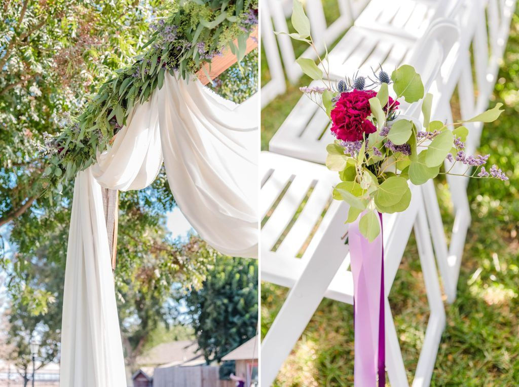 Central Valley visalia California barn wedding ceremony decor