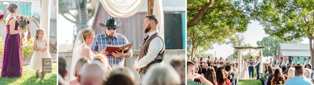 Central Valley visalia California barn wedding ceremony