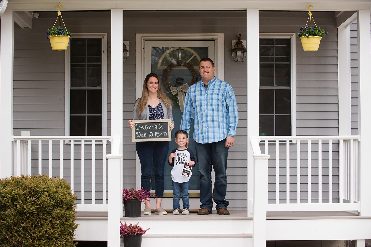 Family Porch Portrait by Plymouth, MA photographer Heidi Harting