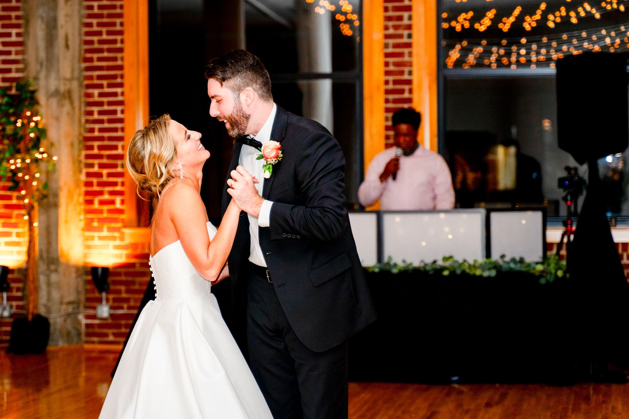 bride and groom first dance at Windows on Washington
