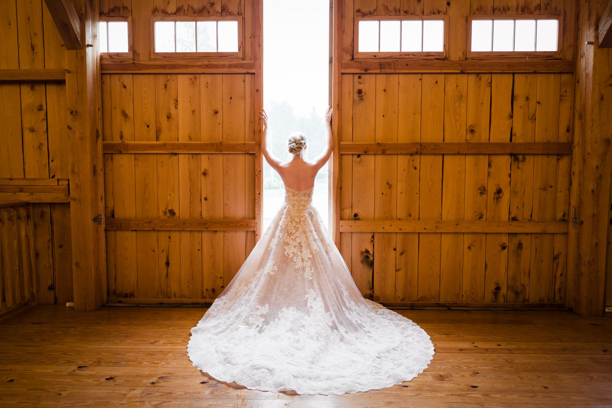 The Barn at Graver's Tree Farm The Blushing Bridal Boutique Gown Rustic Lehigh Valley Wedding Venue Bride Getting Ready