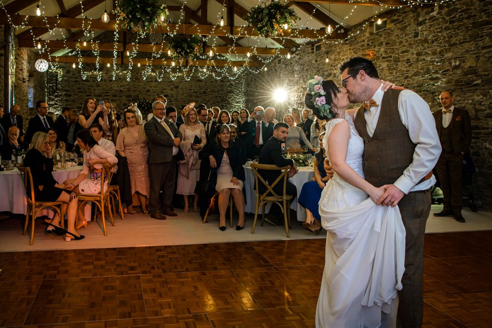First dance at New House Farm Wedding in Lake District