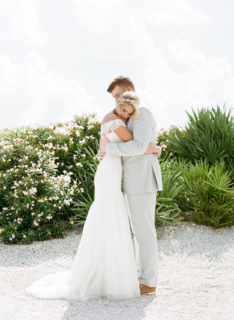 Marco Island Florida Wedding Photographers Aaron Snow Photography destination bride and groom first look hugging
