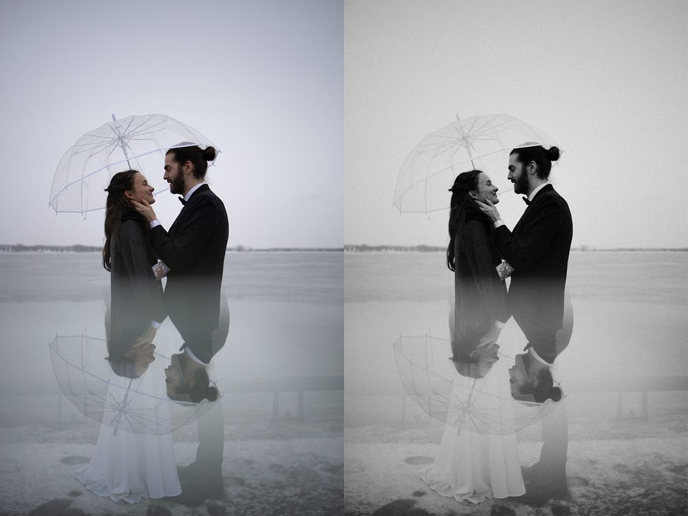film look black and white lightroom preset for wedding
