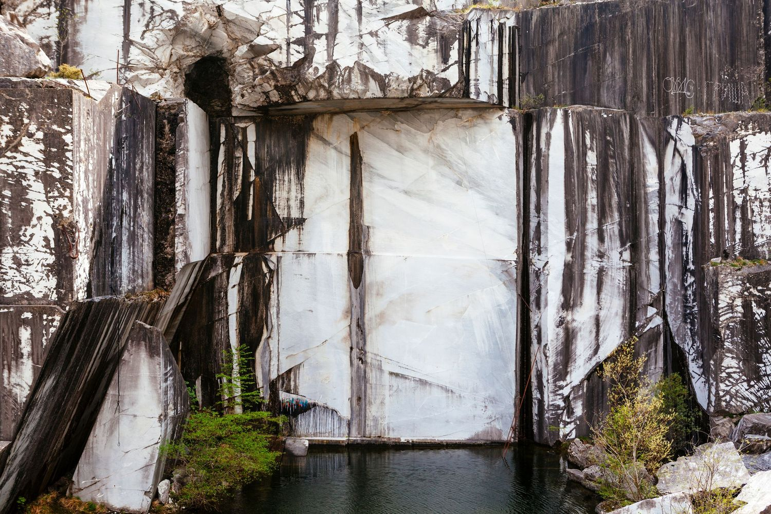landscape photography at disused marble mine in Northern Tuscany