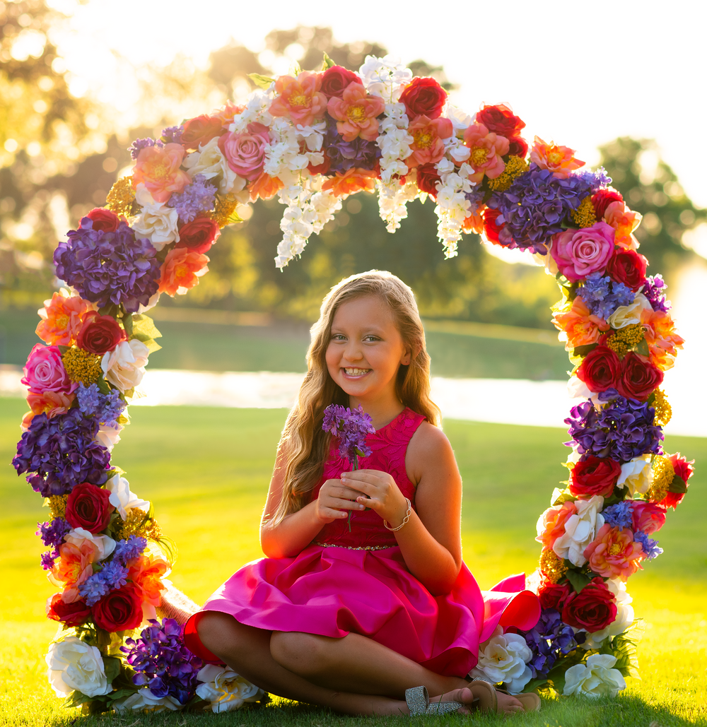 Flower Ring children's photography by Alicia Wilson in Rockwall, Texas