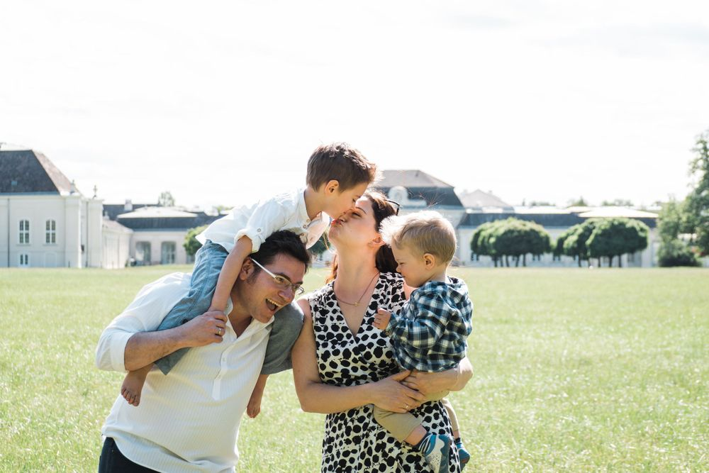 This is a happy lifestyle photography of a family in Austria, Laxenburg and Vienna or Mödling