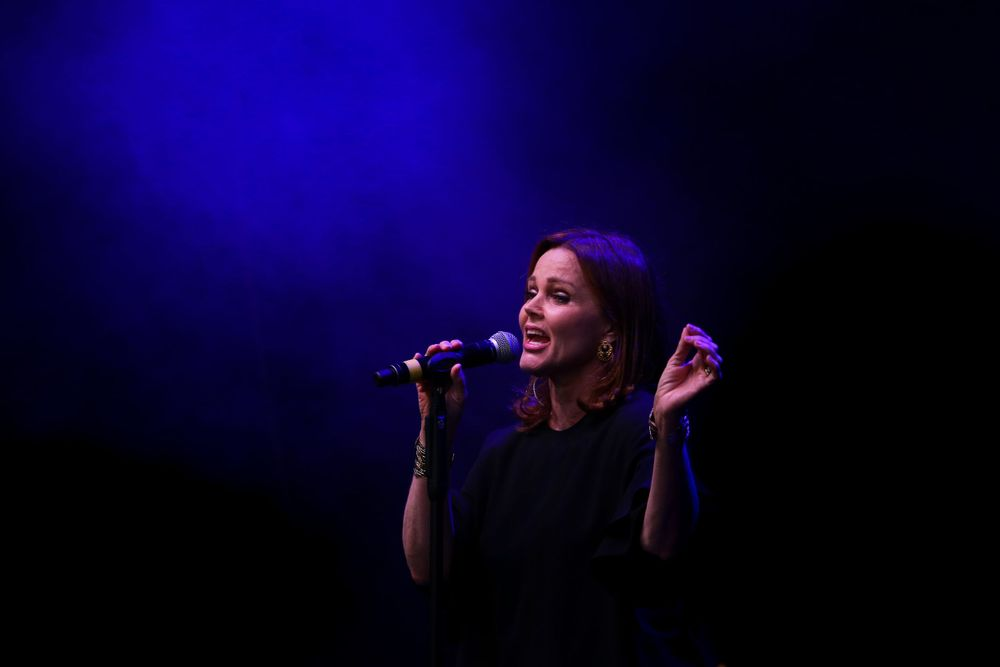 American singer & musician Belinda Carlisle performs at the Meraki Festival at Hertfordshire County Show, Redbourn, UK