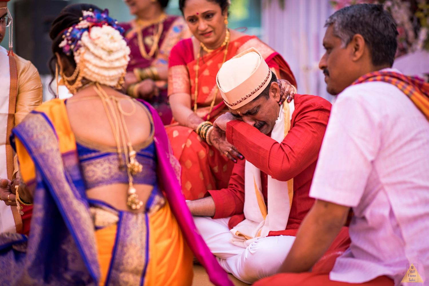Bride's father get's emotional during wedding day kanyadan ritual at a destination Marathi wedding