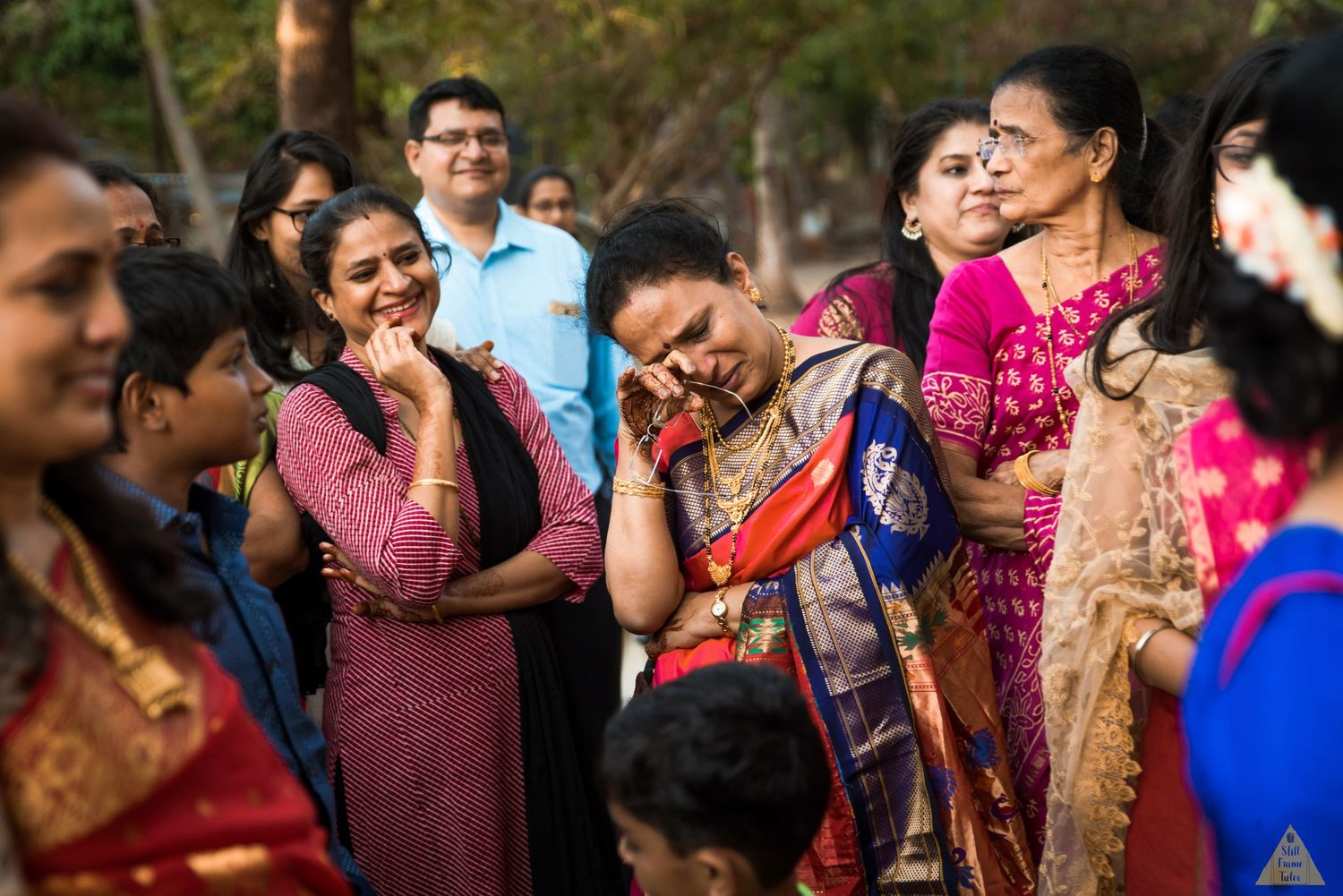 Relatives get emotional while bidding bride good bye at her viddai