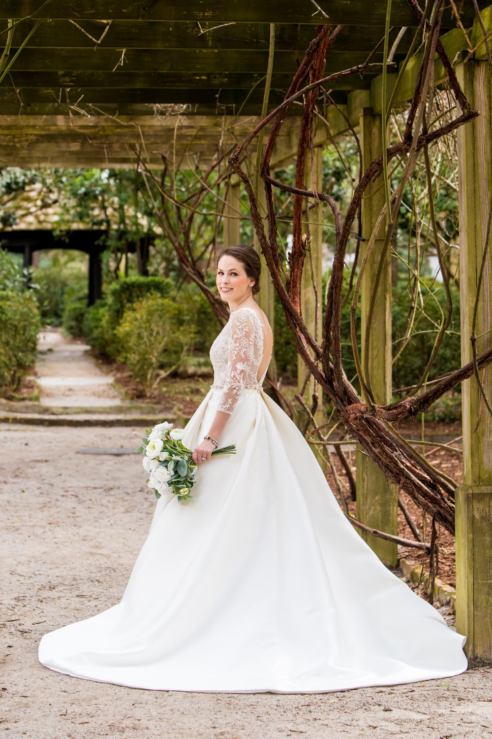 Ferris' bridal portrait at the Lace House on the grounds of the South Carolina Governor's Mansion in Columbia, SC