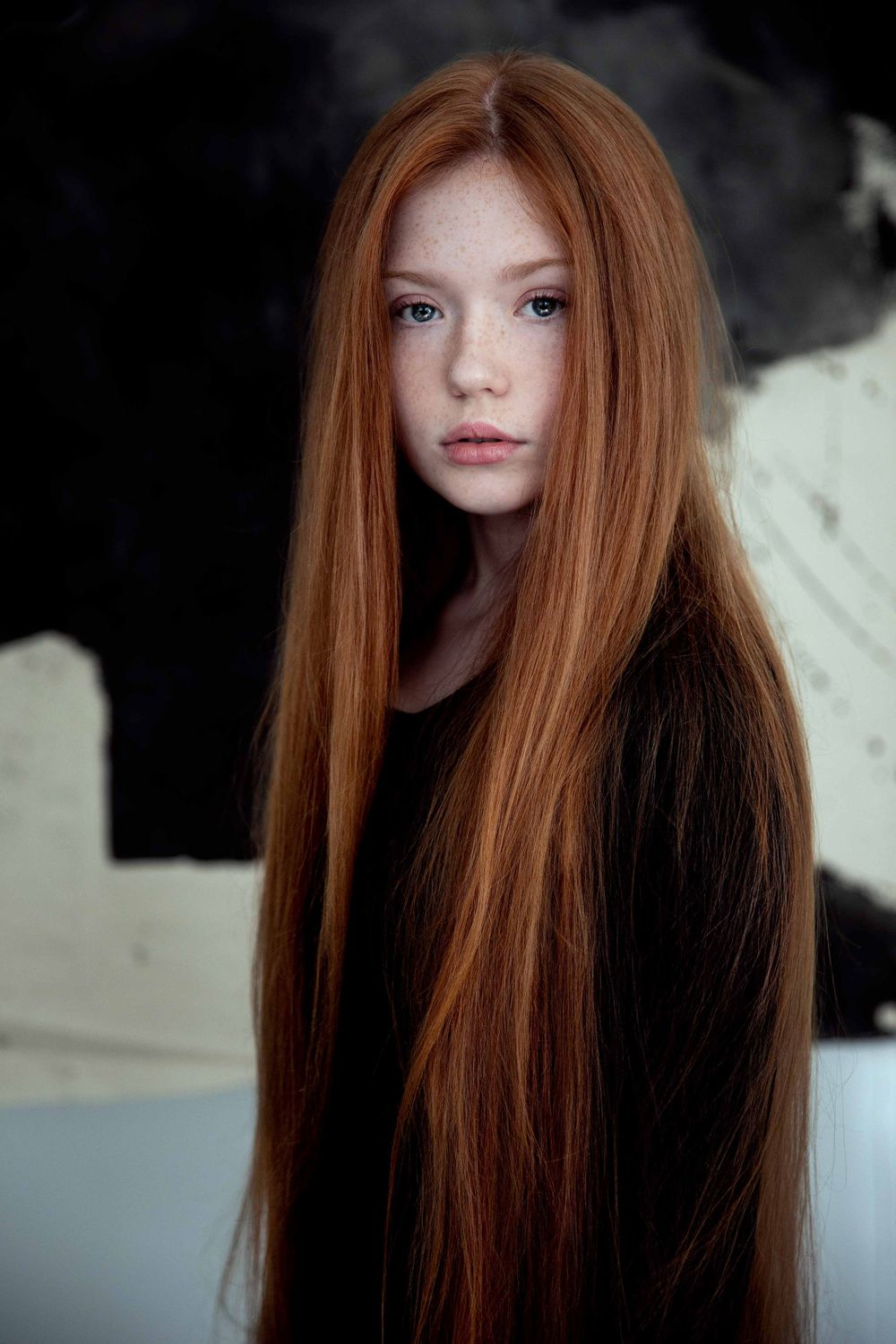 Fine Art Portrait of red haired girl