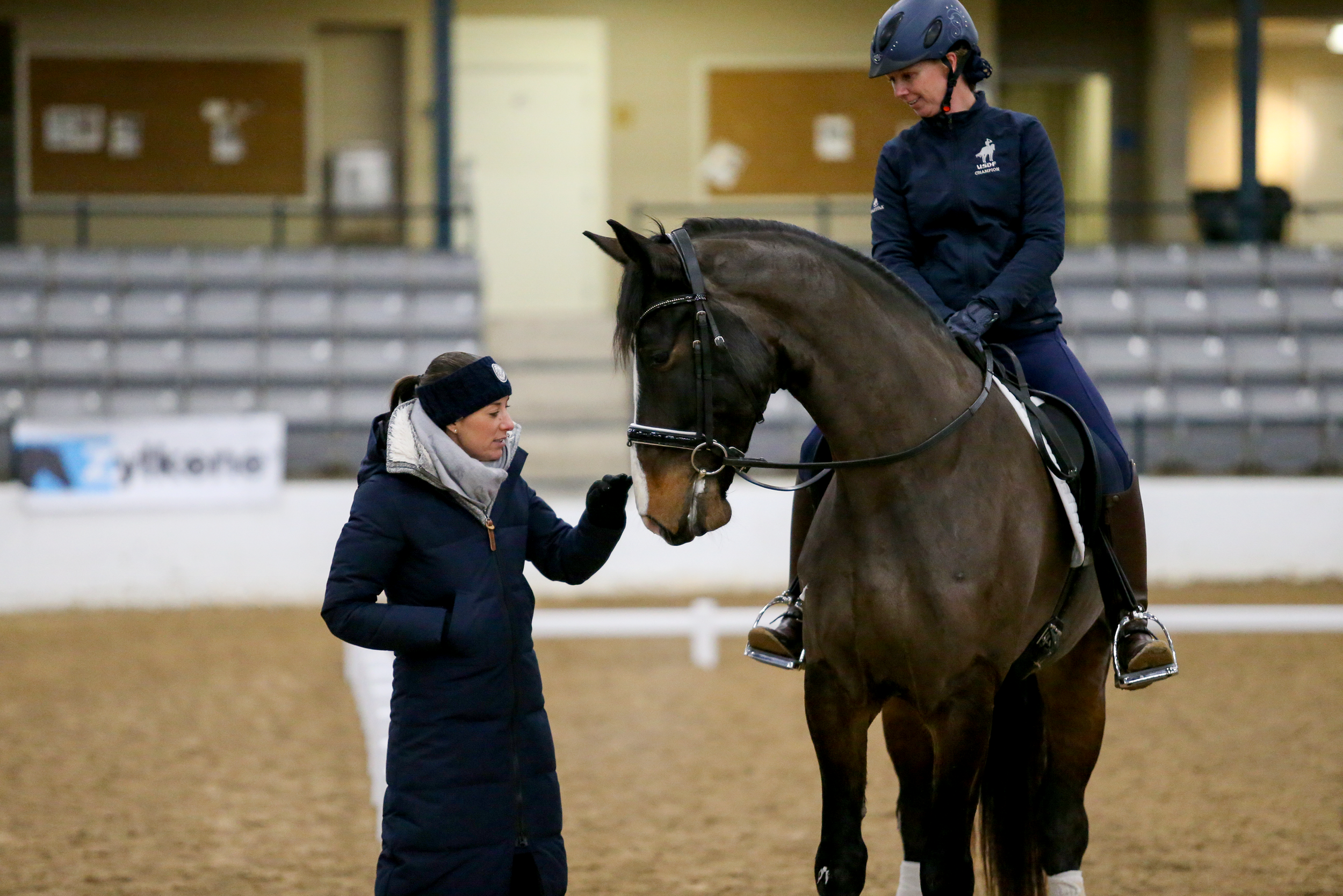 Charlottle Dujardin and Jenna Strauss at the Team EnGaged Clinic in Lexington, KY 2018 © Meg McGuire Photography