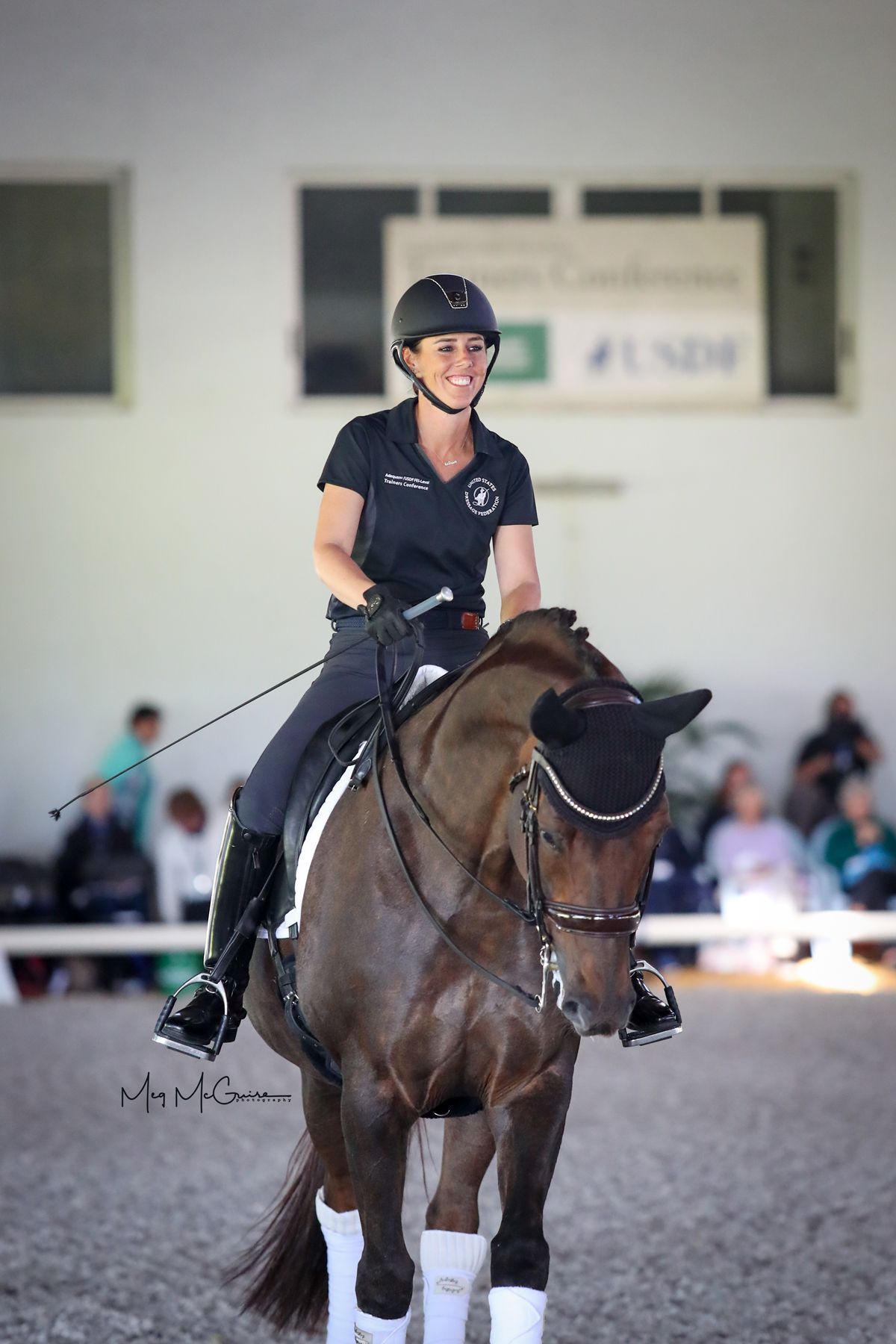 Kasey Perry Glass and Mistico at the 2020 USDF Trainers Conference. Meg McGuire Equine Photography