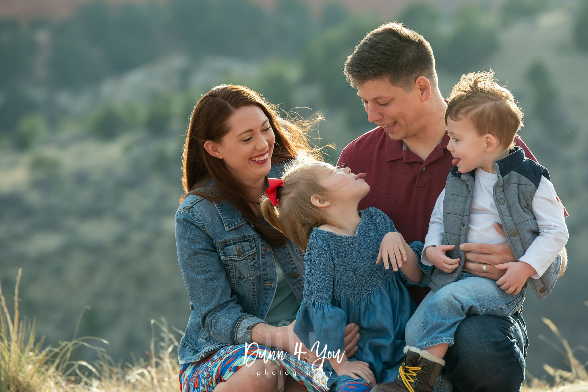colorado springs family photo session Garden Of The Gods Family of 4