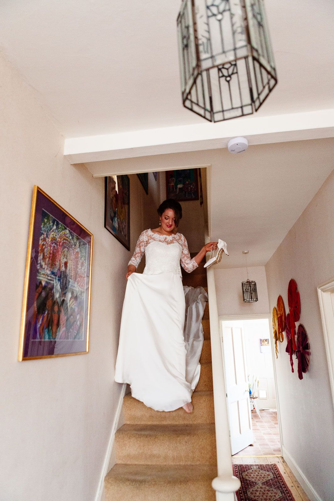 photograph of bride at home before ceremony
