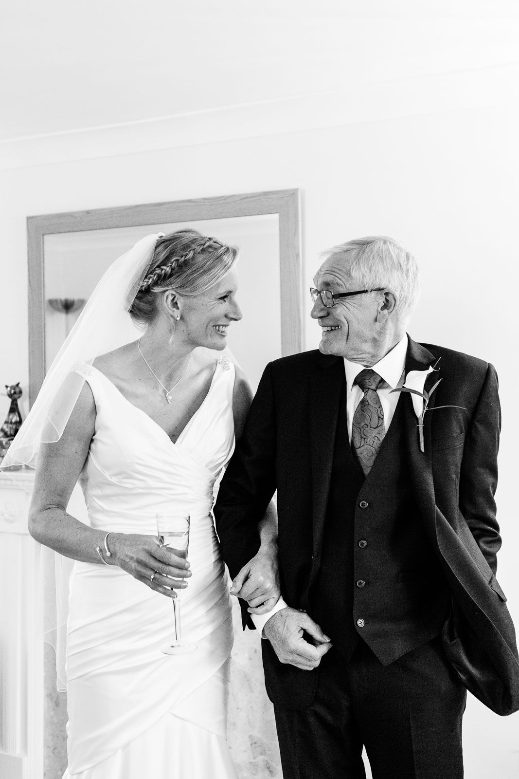 bride and father-of-the-bride natural wedding photography by Tuscany wedding photographer Elizabeth Armitage