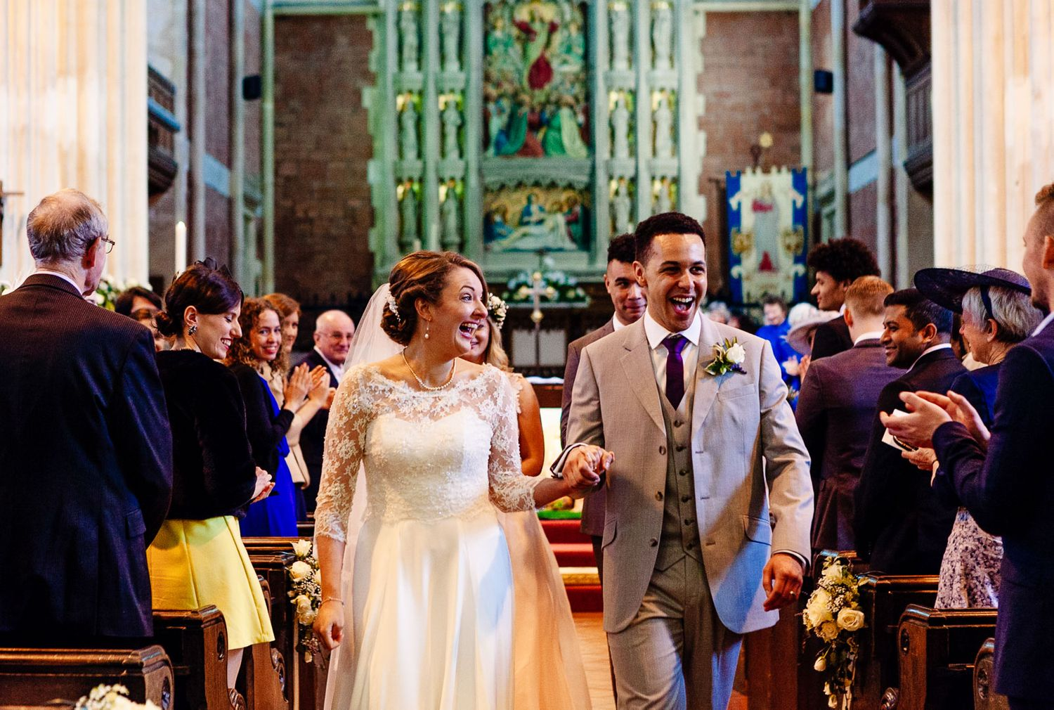 church wedding ceremony in Exmouth Devon