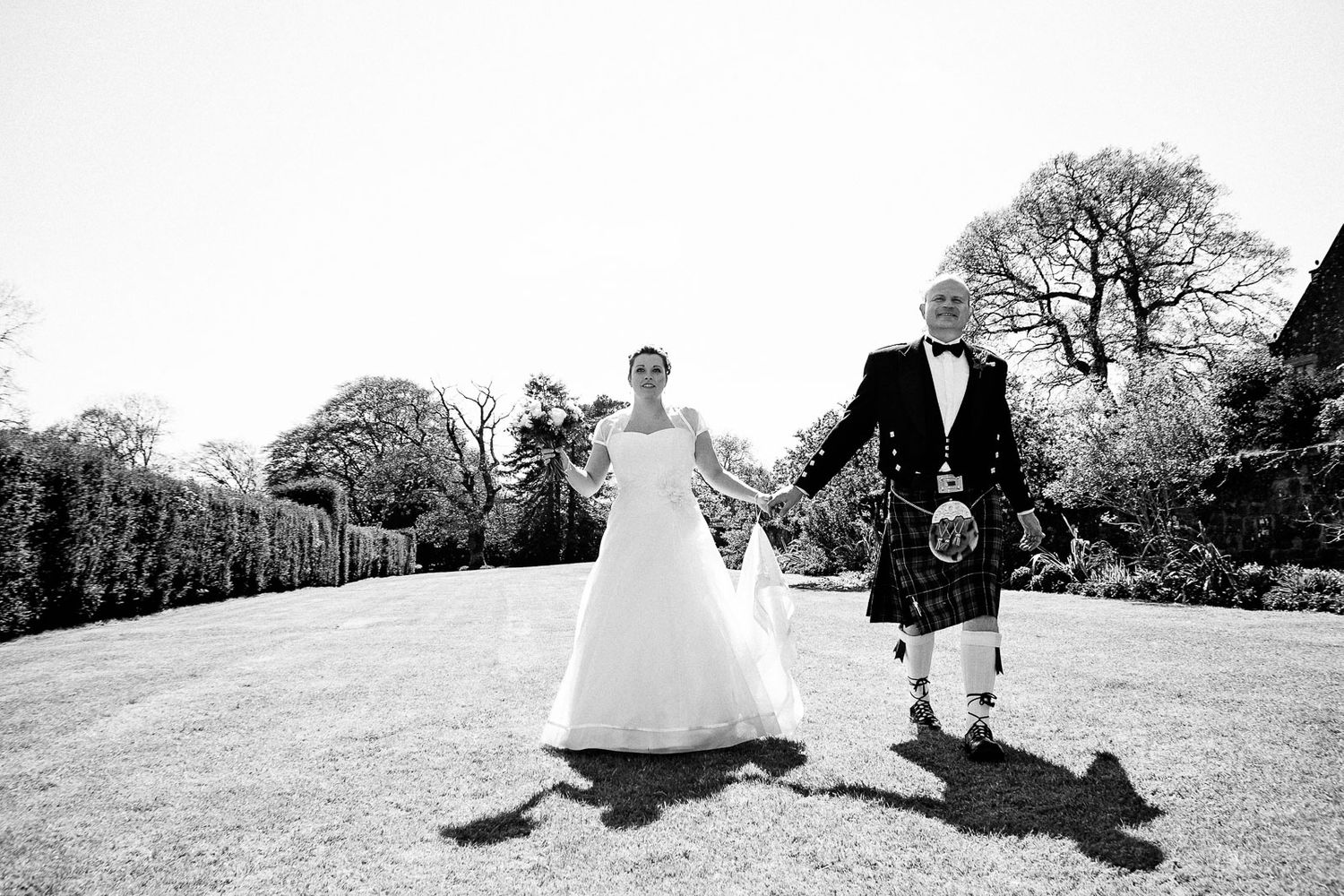Scottish wedding at Langdon Court Devon