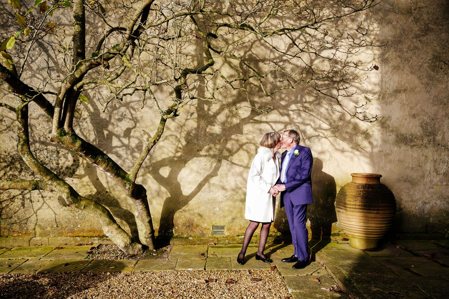 wedding photography for mature couple at Devon wedding