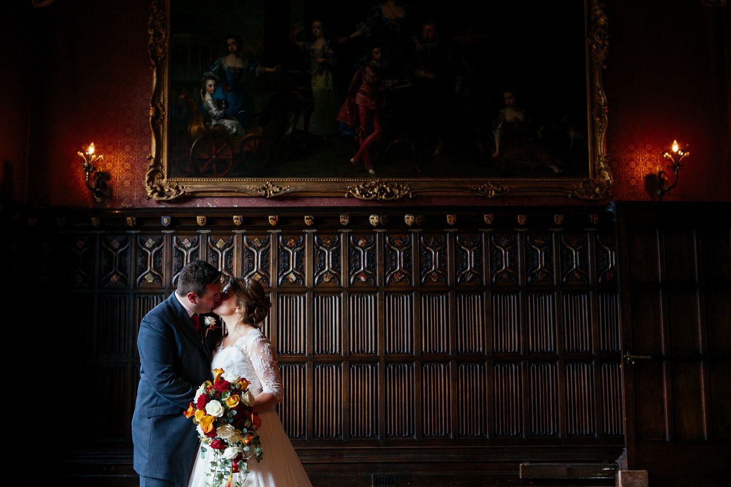 classic and traditional wedding photography at Powderham Castle Devon