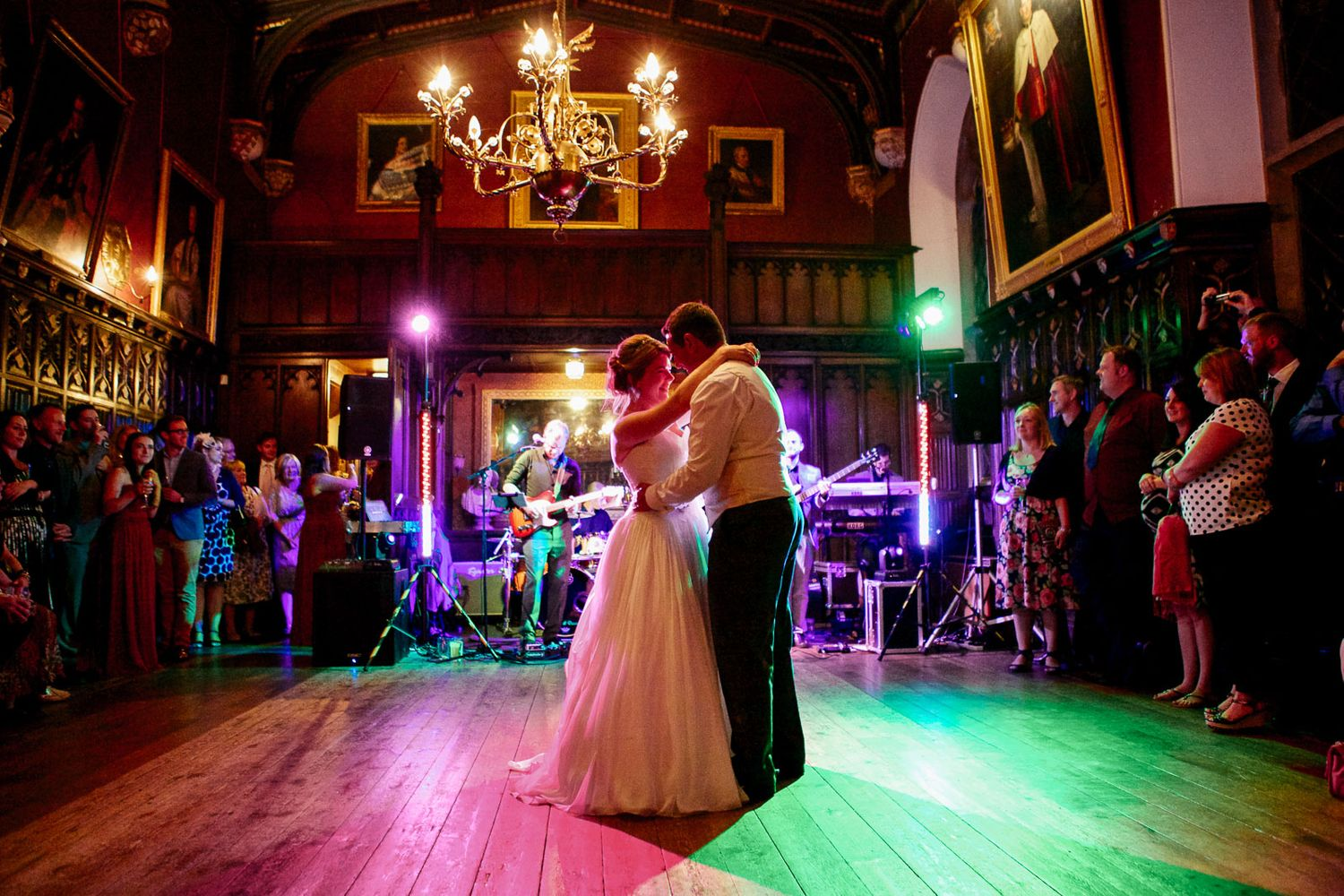 first dance at Powderham Castle wedding