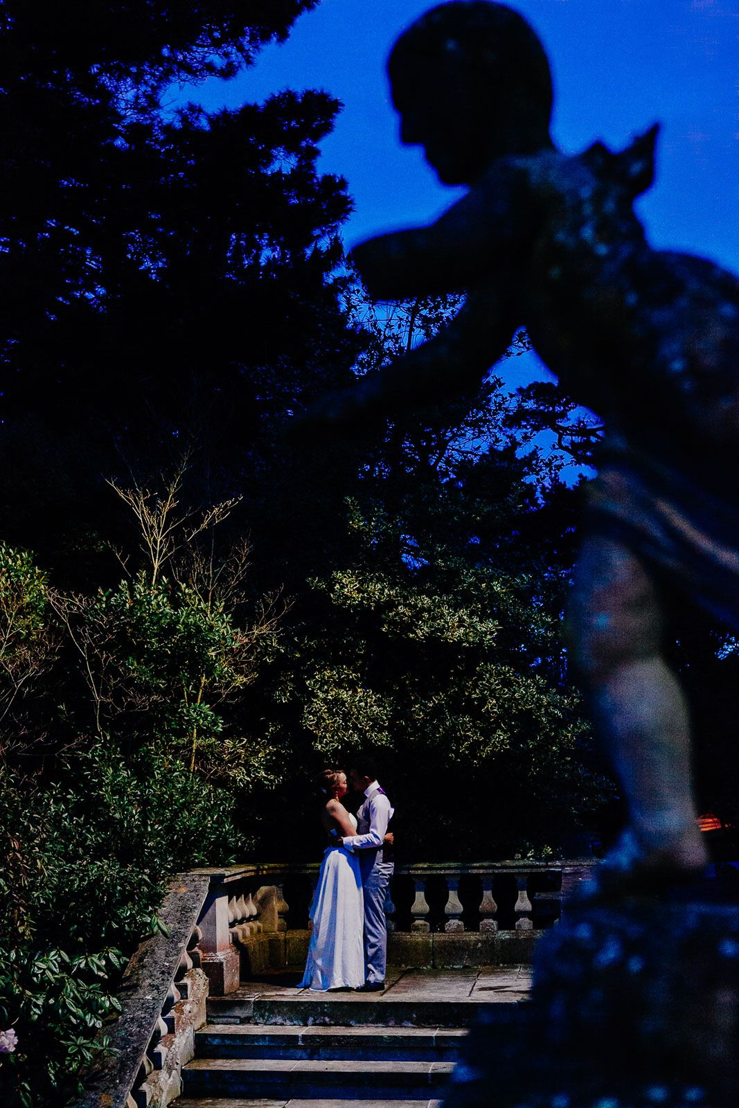 romantic night-time wedding photography by Tuscany destination wedding photographer Elizabeth Armitage