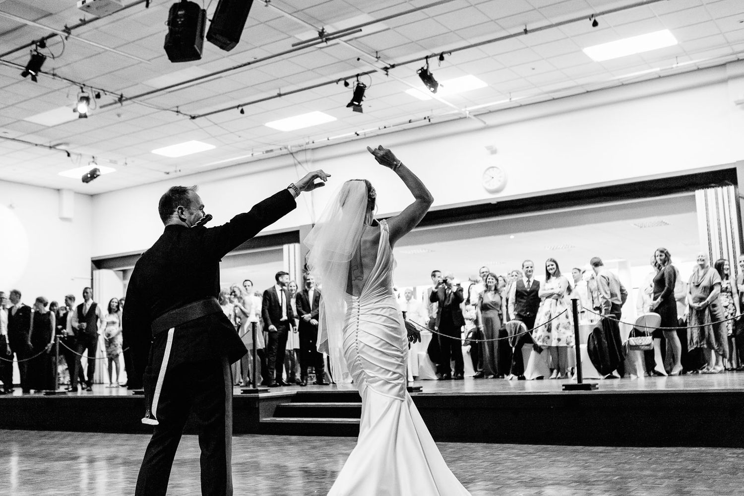 first dance wedding photography in Exeter Devon