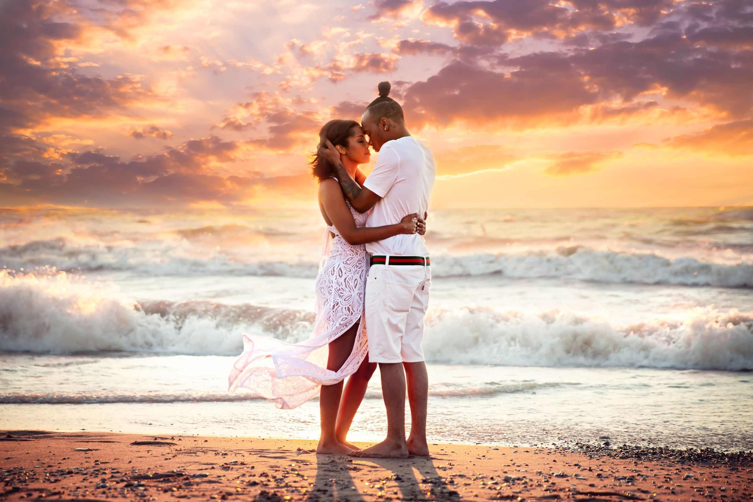 Grand Bend Beach Sunset Engagement Photography by Shawn Van Daele