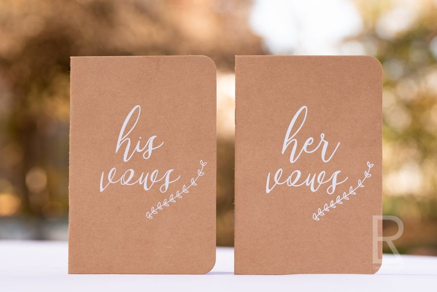 Leah Ramuglia Photography his and hers wedding vows booklets notebooks