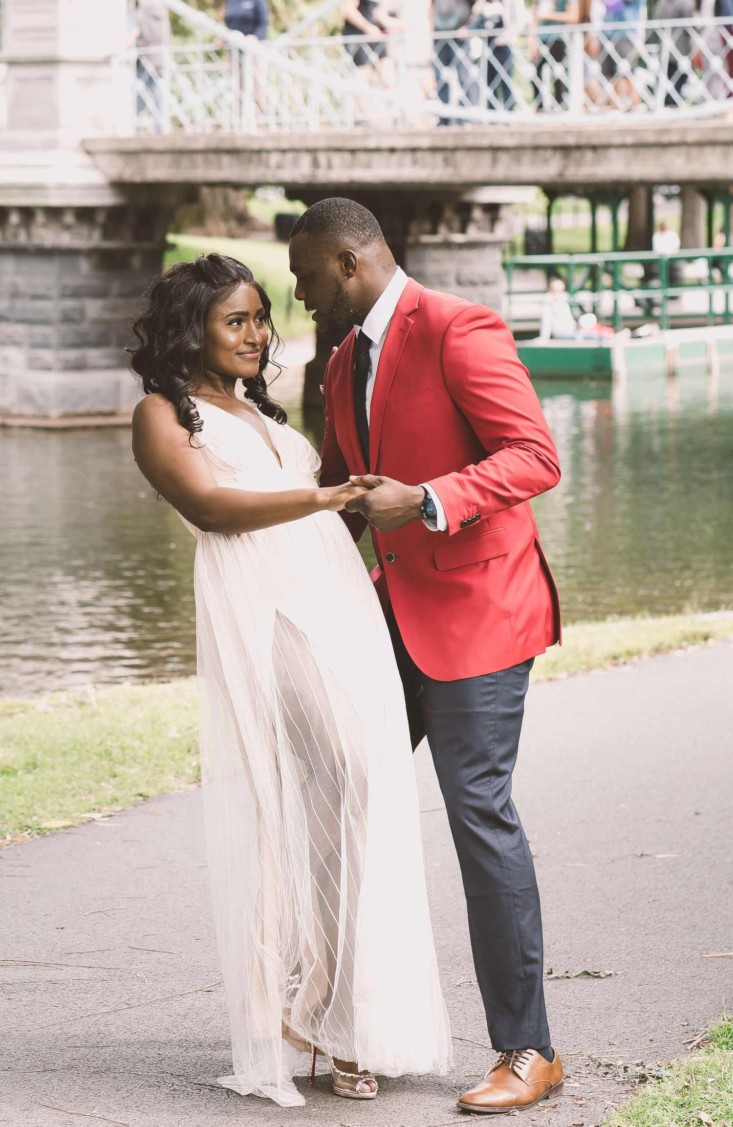Boston Public Garden Engagement Session Wedding Photography