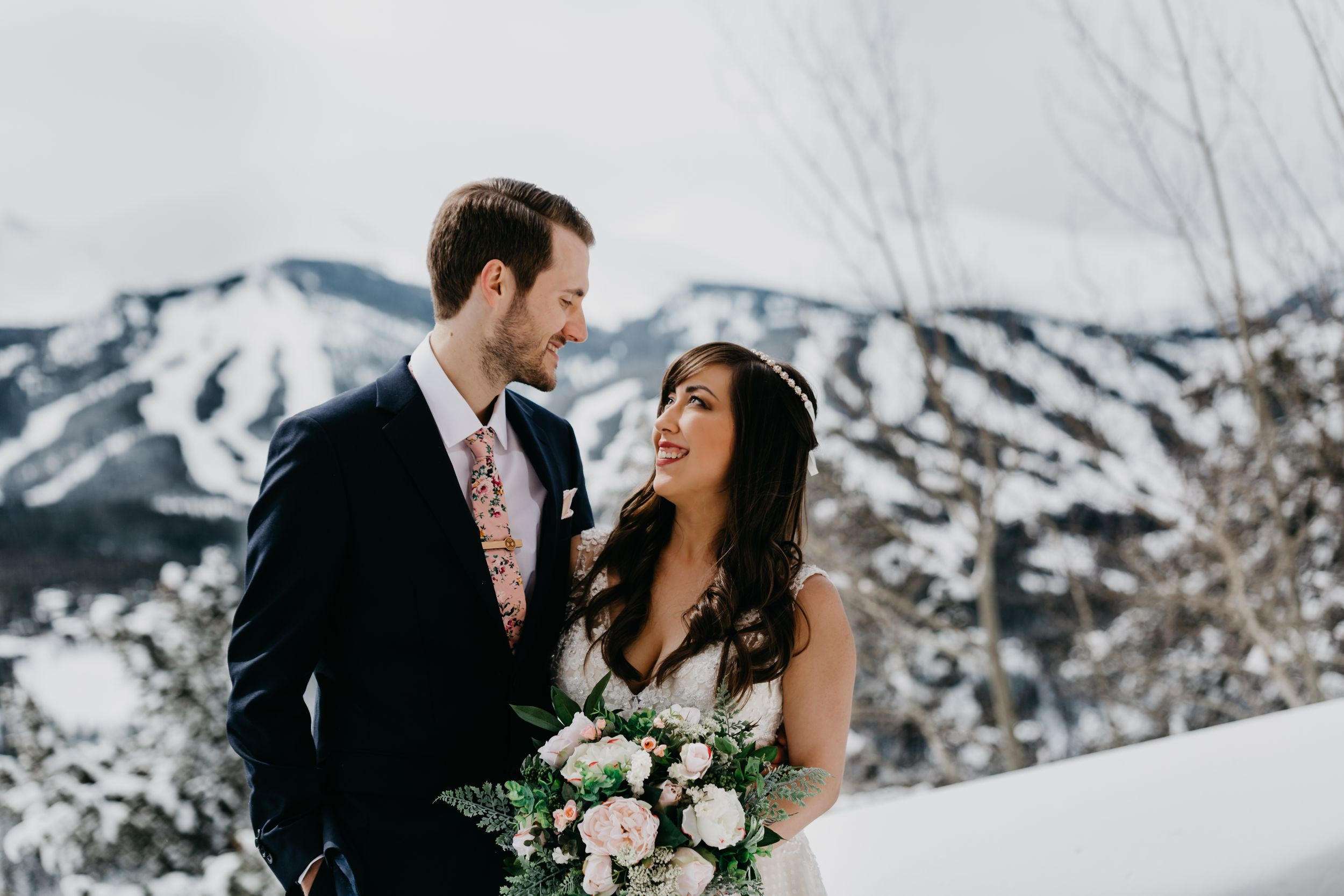 bridal portraits Breckenridge, winter wedding, Colorado wedding, classic wedding, fun, marvel, travel wedding