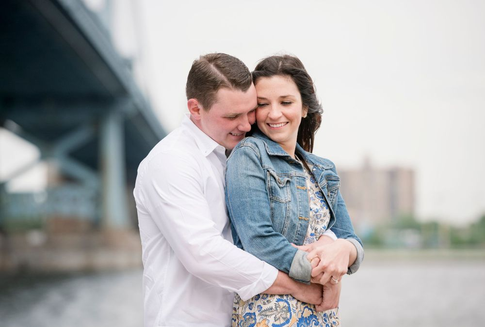 Engagement session at Race Street Pier