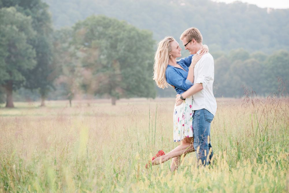 Engagement session at Tinicum Park