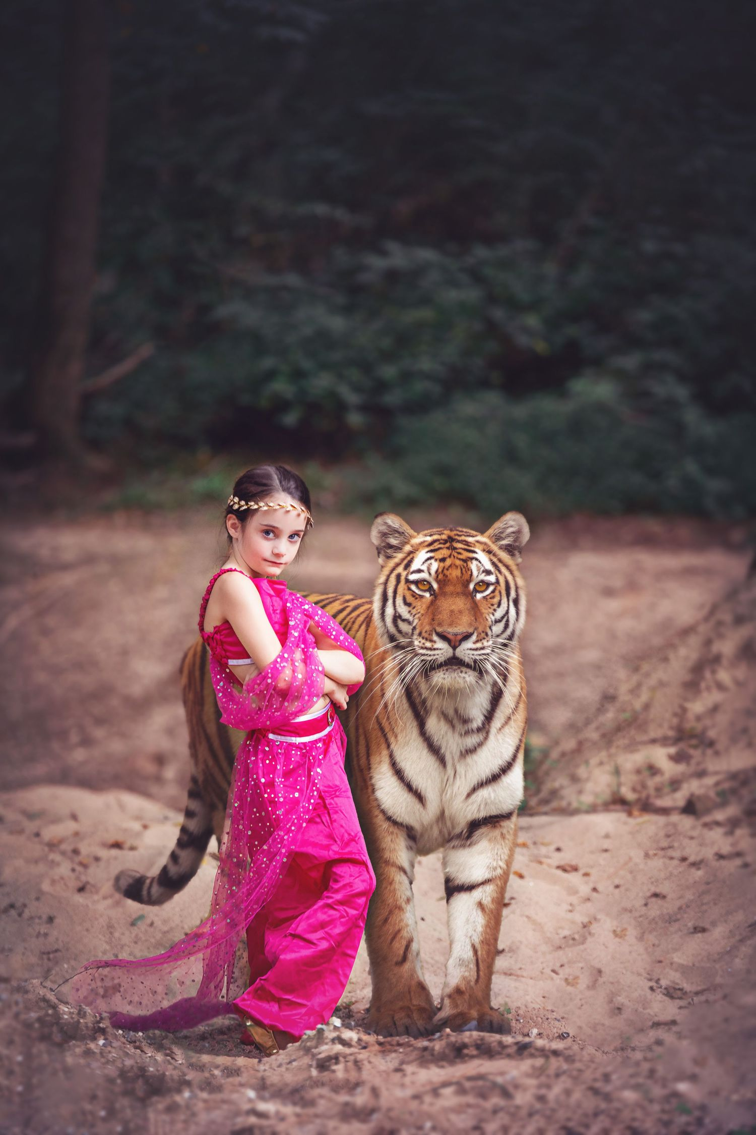 arabian princess tiger imagination photography mc