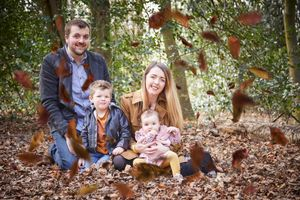 Rufford abbey woods family photo