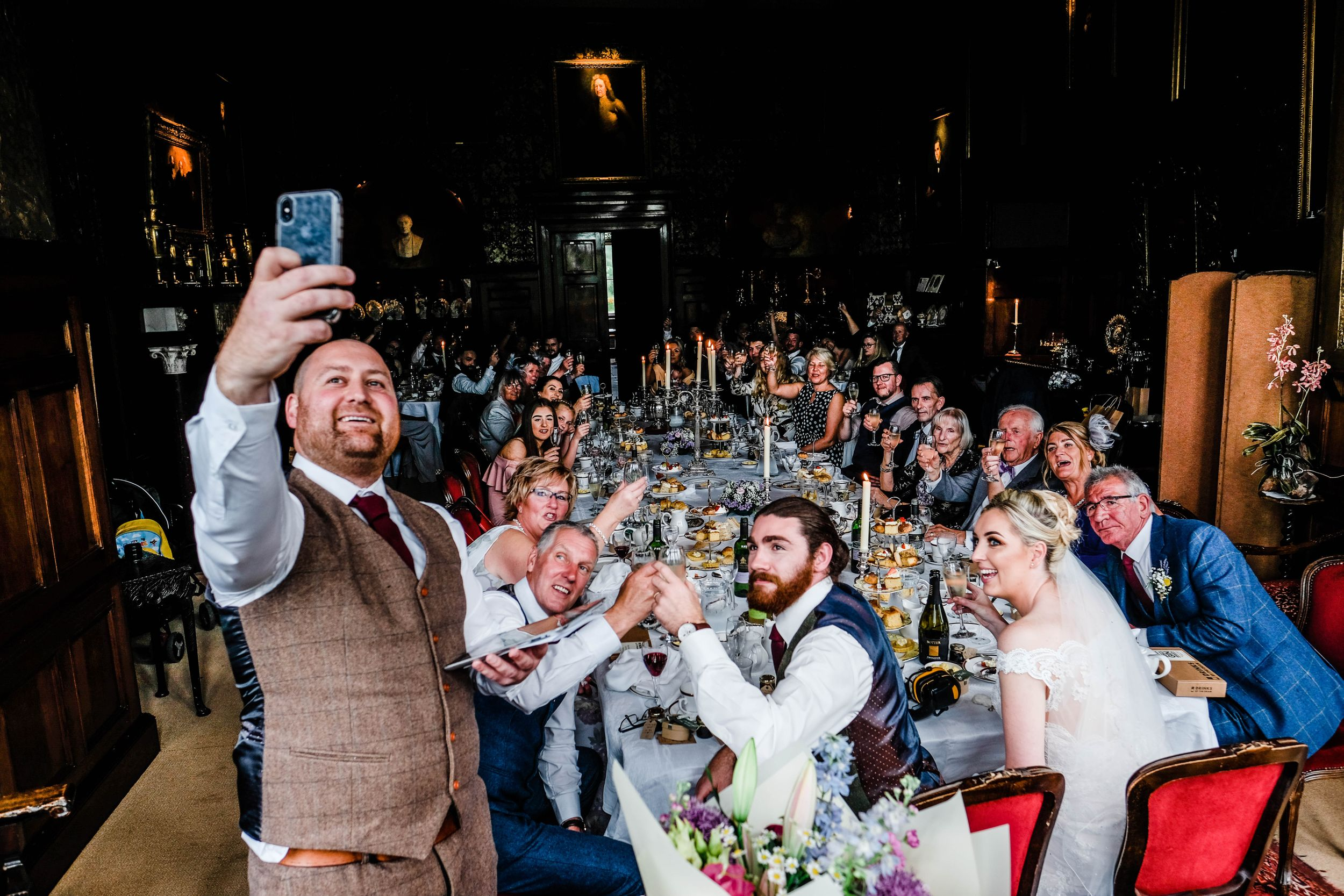 Chelsea Cannar Photography - Lake district wedding photographer, natural and relaxed coverage  - Wedding selfie