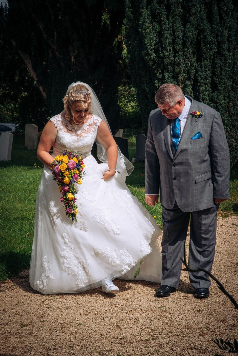Elmore wedding by Zara Davis Photography, Gloucestershire Father of the bride and daughter