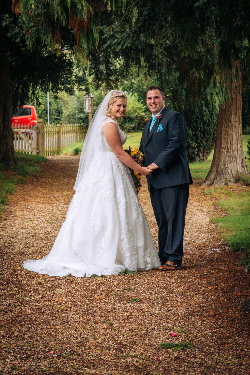 Elmore wedding by Zara Davis Photography, Gloucestershire walking down church path